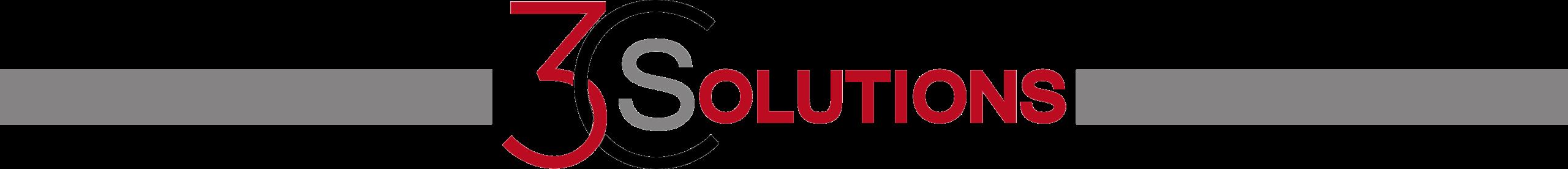 logo 3CSolutions avec bande grise